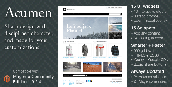 Acumen - The Highly Extensible Magento Theme Hugo Bentley