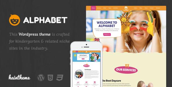 Alphabet - Kids, Children WordPress Theme Ryouta Oz
