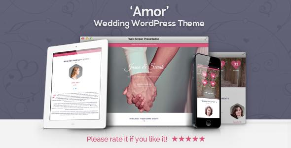Amor - Wedding WordPress Theme WordPress Luther Darin