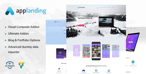 App Landing | App Showcase WordPress Theme Read Garth