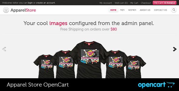 Apparel OpenCart Theme OpenCart Micah Galen