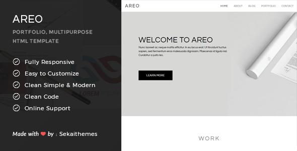Areo - Responsive Multipurpose HTML Template September Nahuel