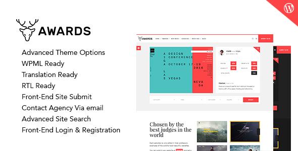 Awards - CSS Gallery Nominees Website Showcase Responsive WordPress Theme Bert Sylvester