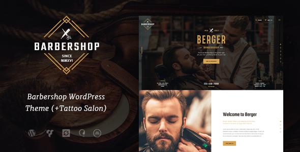 Berger | Barbershop & Tatoo WordPress Theme Inigo Terrence