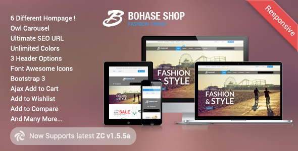 Bohase - Responsive and Multipurpose Zen cart Theme Algernon Amyas