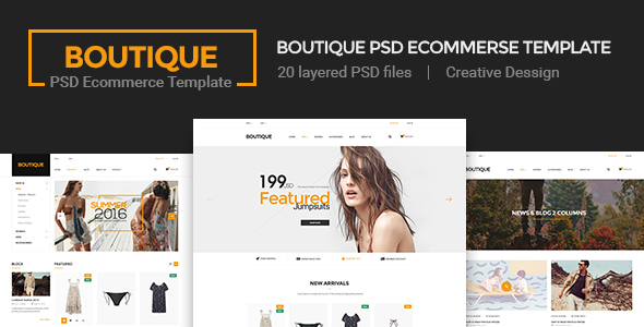 Boutique - Ecommerce PSD Template PSDTemplates Ray Mark