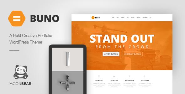 Buno - Responsive Portfolio WordPress Theme Cletis Kurt