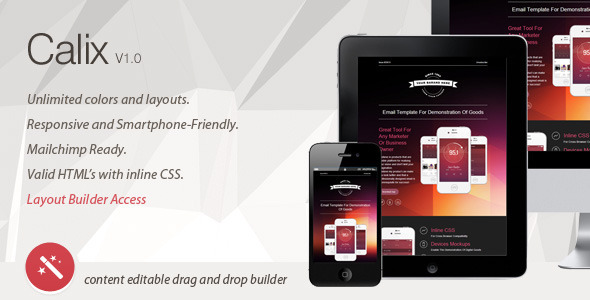 Calix - Responsive Email Template & Layout Builder Damion Boyd