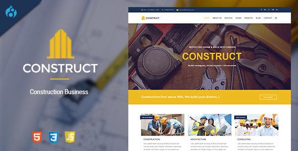 Construct - Drupal 8 Construction & Business Theme Sal James