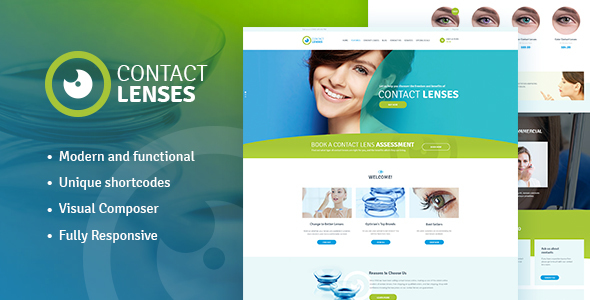 Contact Lenses Store & Vision Therapy Clinic WP Theme Chad Zachery