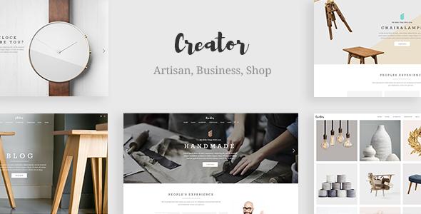 Creator - A Refined Theme for Handmade Artisans, Businesses & Shops Earnest Gerard
