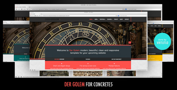 Der Golem–Multipurpose Theme For Concrete5 Hamilton Taylor