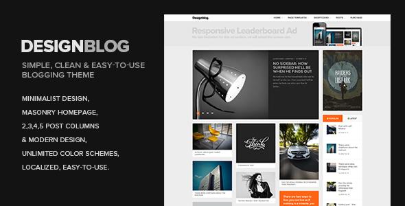 Design Blog - A Minimal and Creative Blog Theme for WordPress Baxter Ramsey