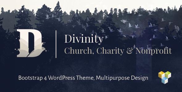 Divinity - Church, Nonprofit, Charity Events & Donations Bootstrap 4 WordPress Theme Gaz Dom
