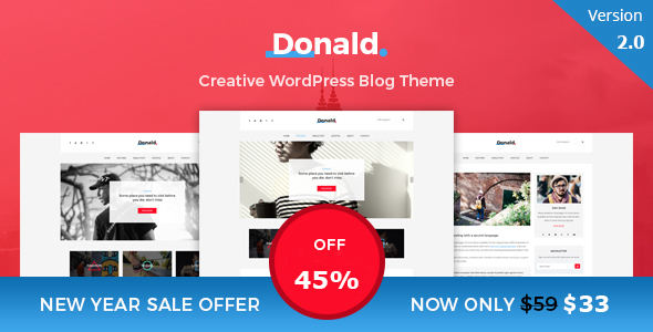 Donald - Creative and Clean WordPress Blog Theme Lonny Jaron