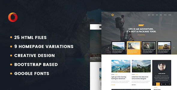 Dot – Personal Blog HTML5 Template SiteTemplates Robby Wilmer