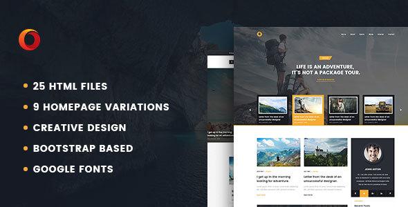 Dot – Personal Blog HTML5 Template SiteTemplates Percy Aram