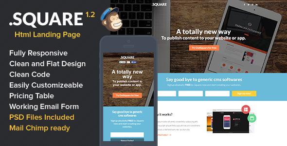 DotSquare HTML Landing Page LandingPages Mervin Bradford