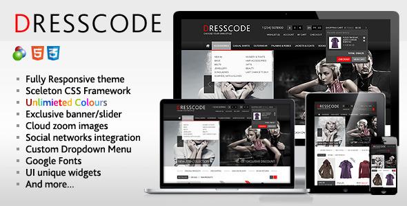 Dresscode - Responsive  osCommerce Theme Sammie Happy