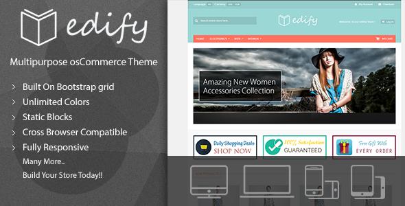 Edify - Responsive osCommerce Theme osCommerce Marcus Randolf
