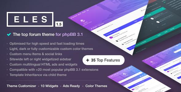 Eles - Responsive phpBB 3.1 Theme Forums Rickey Muhammad