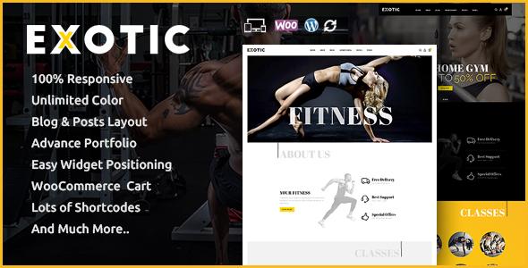 Exotic - Responsive WooCommerce Theme WordPress Crawford Brayden