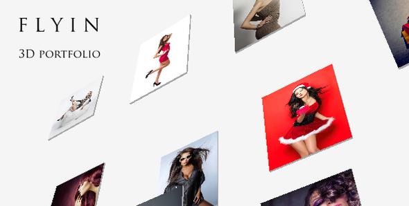 FLYIN - 3D Creative Portfolio Theme WordPress Mega Susumu