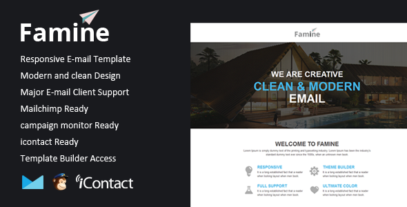 Famine - Responsive Email + Themebuilder Access Dannie Julian