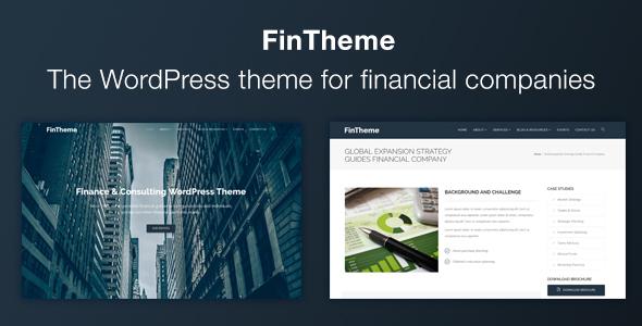 Finance WordPress Theme - For Finance & Consultants Taniel Malakai