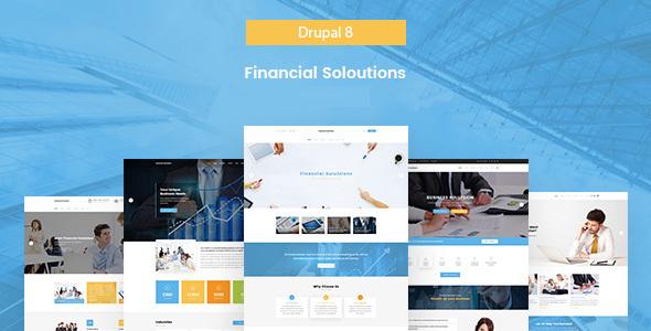 Financial Solutions - Financial & Business Drupal 8 Template Jimi Harding