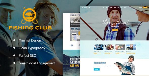 Fishing and Hunting Club WordPress Theme Winton Antony