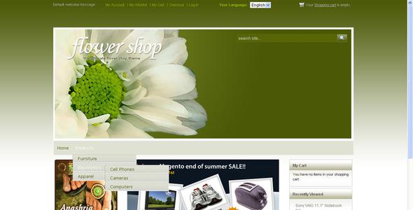 Flower Shop Magento Hokolesqua Bridger