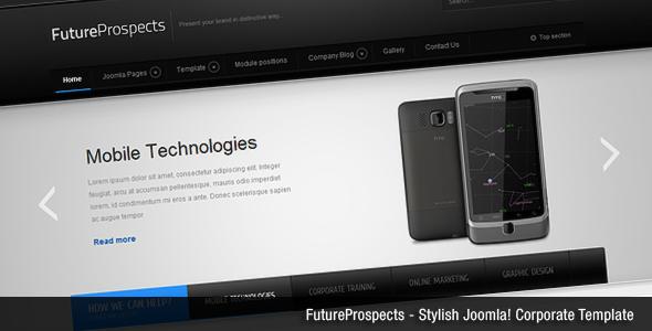 FutureProspects Stylish Corporate Joomla Template London Ryoichi