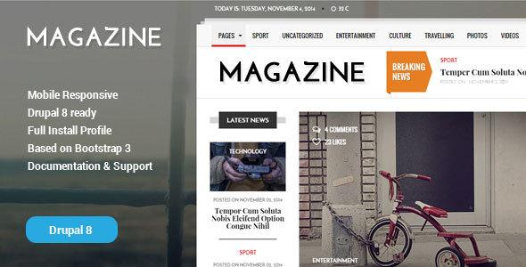 Gazeta - News & Magazine Drupal 8 Theme Ari Brendon
