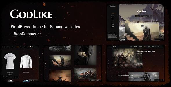 Godlike - Game Theme for WordPress WordPress Vardan Hamnet