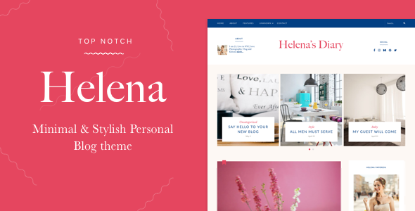 Helena - Personal WordPress Blog Theme WordPress Shou Harris