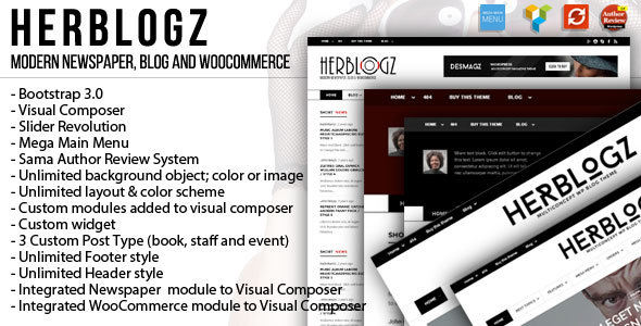 HerBlogz - Clean WP Multiconcept Magazine Theme Guy Brooks
