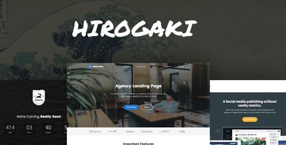 Hirogaki - Multipurpose Landing Page WordPress Themes Tobias Hideyoshi