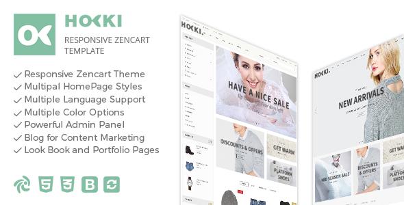 Hoki - Responsive Zencart Theme ZenCart Royce Beaumont