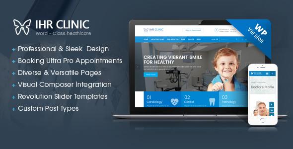 IHR Clinic - Medical and Health Care WordPress theme Brigham Branden