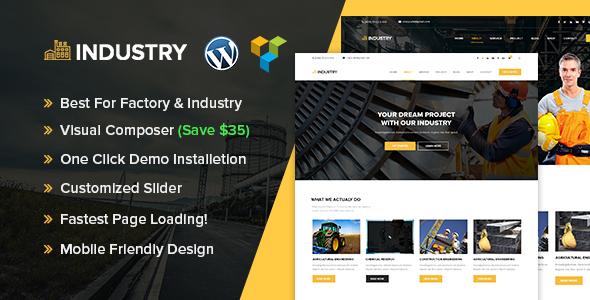 Industry - Industrial & Factory WordPress theme Arlie Tiger