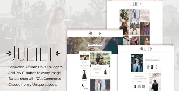 Juliet - A Blog & Shop Theme for WordPress Raymund Gabe