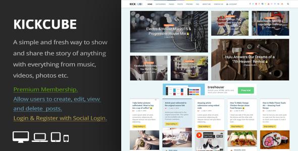 KICKCUBE - Membership & User Content Sharing Theme Ryuunosuke Moss