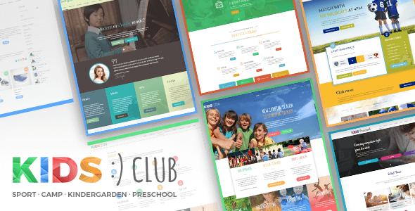 Kids Club - Sport, Kindergarten, Preschool & Camp WordPress Theme Lincoln Finlay
