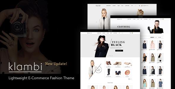 Klambi - Lightweight E-Commerce Fashion Theme Kaede Aylmer