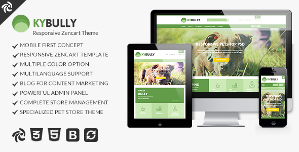 Kybully - Mobile First Zencart Theme ZenCart Angel Leopold