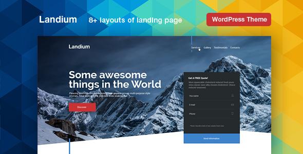 Landium - App & Landing Page WordPress Theme Pack Rudolph Mort