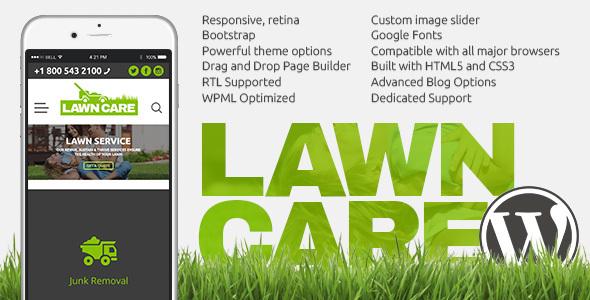 Lawn Care services - WordPress website theme Aleksandr Algar