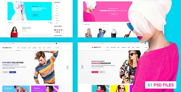 MateFash - Material Fashion Shop PSD Template Martin Shinobu