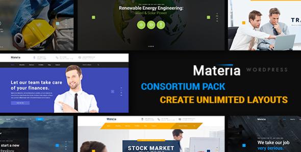 Materia - Consortium Pack WordPress Theme Quincey Rod